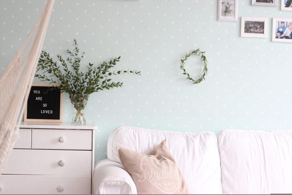Eukalyptuskranz Wohnzimmer