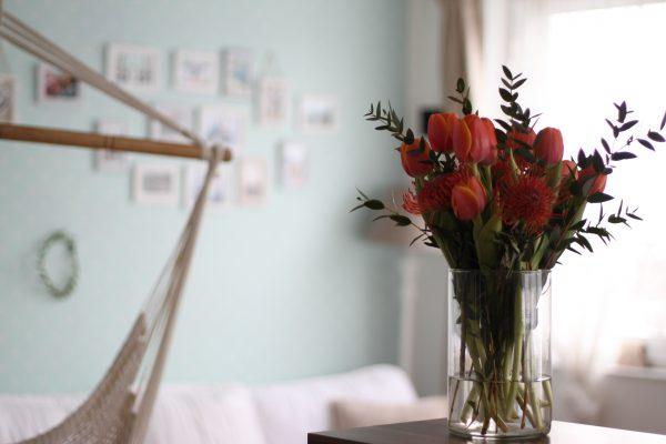 Blumen Federwiege